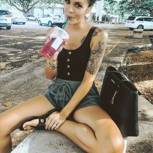 Grey blue Women's Utility Shorts